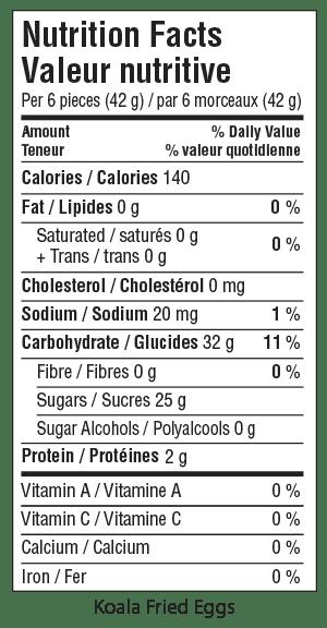 Koala Fried Eggs Nutrition Facts