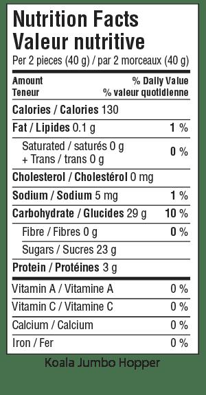 Koala Jumbo Hopper Nutrition Facts